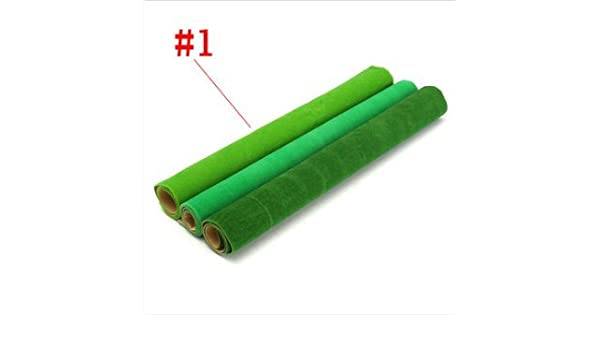 50x50cm Artificial Grass Mat Green Dollhouse Railway Train Layout Carpet Moss #3