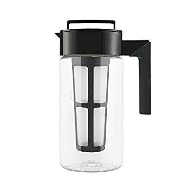 Takeya Patented Deluxe Cold Brew Iced Coffee Maker with Airtight Seal & Silicone Handle, Made in USA