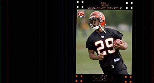 (2007 Topps Football #373 Leon Hall RC Rookie Cincinnati Bengals Official NFL Trading Card (from just opened factory sealed set))