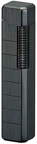 Black Diamond Lighter - Sarome Flint Lighter for Pipe PSD36-03 Black nickel hairline/diamond cut