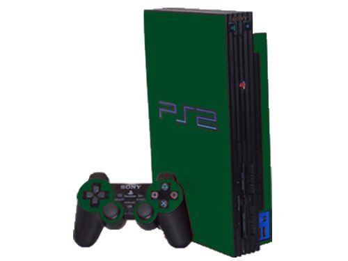 (Sony PlayStation 2 (PS2) Skin - NEW - FOREST GREEN system skins faceplate decal mod )