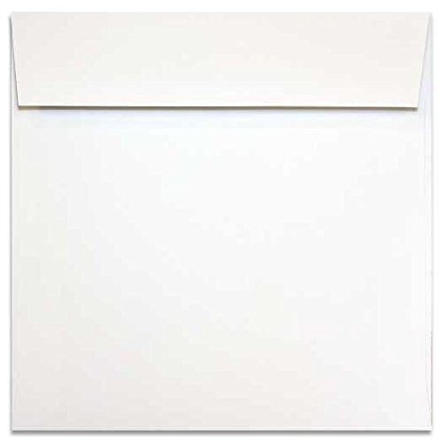 2PBasics White 7 inch Square Envelopes (7x7-inches) - 25 PK (Square Vellum Envelopes)
