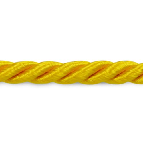 (Expo International Wanda 1/8-Inch Twisted Cord Trim, 20-Yard, Yellow Gold)