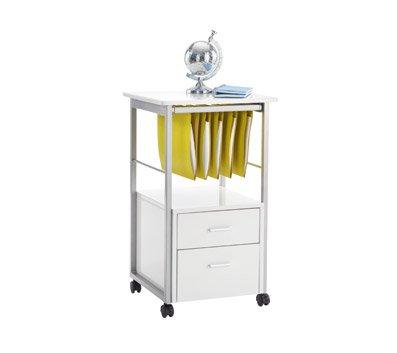 Brenton Studio Halton File Cart, 30''H x 17 3/4''W x 17 3/4''D, White by OfficeMax