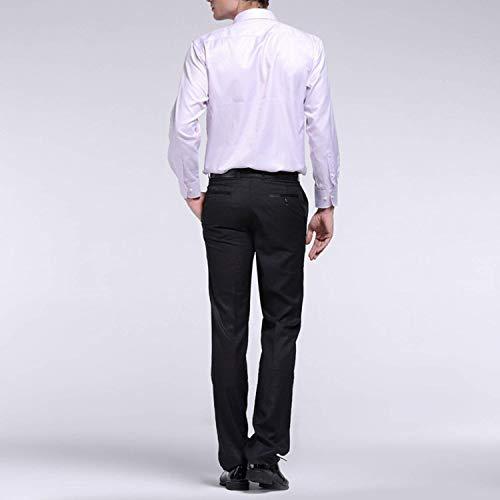 Longues Straight Pantalon Casual Business Manches Style Amayay Color Skinny Hommes Costume Noir Leg À Fit Slim Solid Autumn Simple De Pour Spring wfdx7IqxA