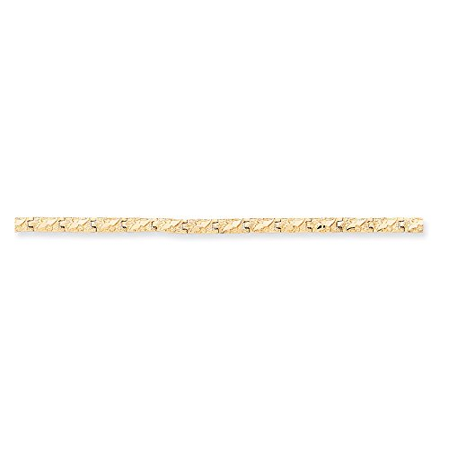 Solid 14k Yellow Gold 4.0mm Nugget Bracelet - Mm Nugget 4 Bracelet
