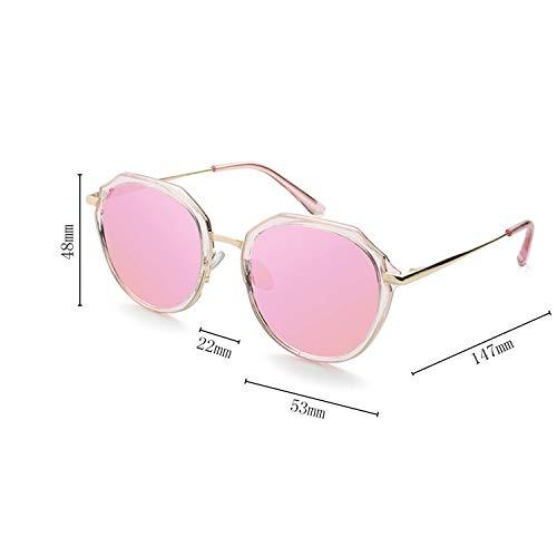 Frame Metal Surdimensionné Soleil Shopping Pink Femmes pour Polygon CJJC Mode Présents Vacances Lunettes La De De Polarisées Utilisation Soleil Mesdames Lunettes Conduite x48xg0wn