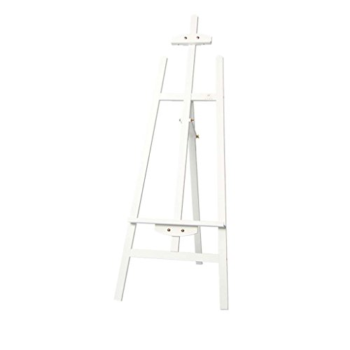Professional Wooden Art Display Canvas Painting Easel - 145Cm Tall Adjustable Wood Easel For Adults - Easy To Assemble - Fits Small And Large Canvases Easels Exhibition,White ()