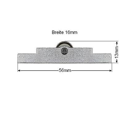 71x16mm Laufrollen Schiebet/ürbeschlag Schiebet/ürrollen f/ür Laufschienen bis 4mm Schiebet/ür Bodenschiene Rollenbeschl/äge bis 35 Kg