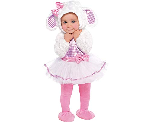 Amscan Baby Little Lamb Halloween Costume for Infants, 0-6 Months, with Included -