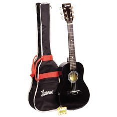 Lauren LAPKMBK 30-Inch Student Guitar Package - Black
