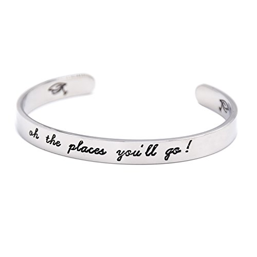 LParkin Oh The Places You Will Go Bracelet, Stainless Steel (White) by LParkin (Image #2)