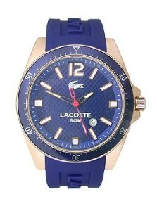 Lacoste Seattle Three-Hand Rose Gold and Purple Silicone Men's watch #2010750 (Purple Gold Watch)