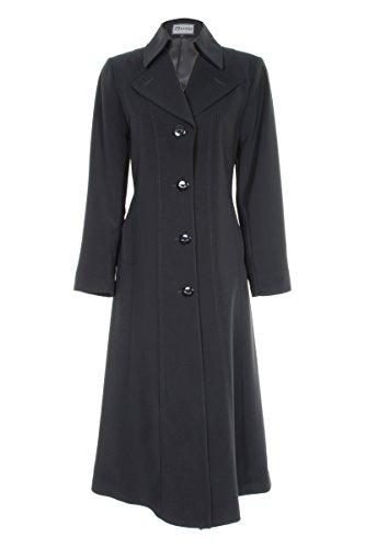 Busy Clothing Women Black Long Trench Coat Mac