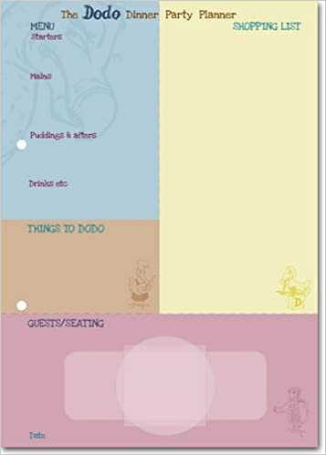 amazon dodo dinner party planner pad plan the perfect dinner