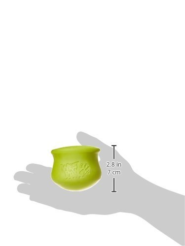 West Paw Zogoflex Toppl Interactive Treat Dispensing Dog Puzzle Play Toy, 100% Guaranteed Tough, It Floats!, Made in USA, Small, Granny Smith by West Paw (Image #7)