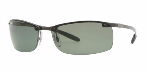 0a904615c5f Ray Ban Sunglasses RB8305 Tech 082 9A Dark Carbon Polarized Green ...