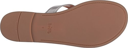 Coach Womens Thong Sandal Gunmetal Metallic Leather cheap price factory outlet excellent online latest buy cheap big discount 6bgmU