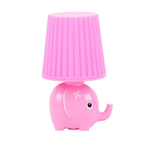 LED Plug in Night Light for Kids-Elephant Intelligent Light Sensor Auto Control LED Wall Lamp for Baby Child Nursery (Elephant-Pink)