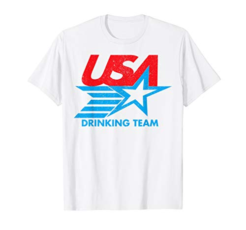 (Funny Independence Day T Shirt USA Drinking Team 4th of July )