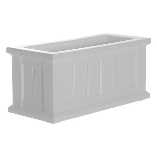 d Patio 24x11 White Polyethylene Planter, 24