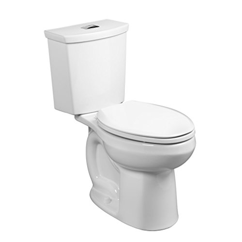 American Standard 2886518.020 H2Option Siphonic Dual Flush Right Height Elongated Toilet with Liner, White, 2-Piece