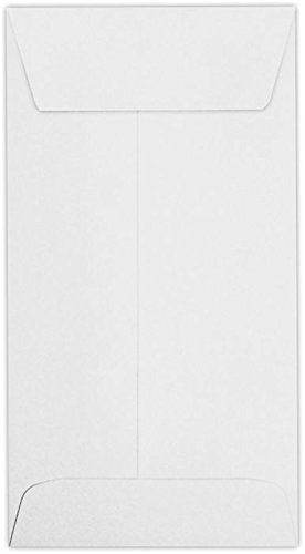 #7 Coin Envelopes (3 1/2 x 6 1/2) - 24lb. Bright White (50 Qty.) | Perfect for storing Small Parts, Coins, Jewelry, Stamps, Seeds, Small Electronic Parts and so much more! | 95083-50