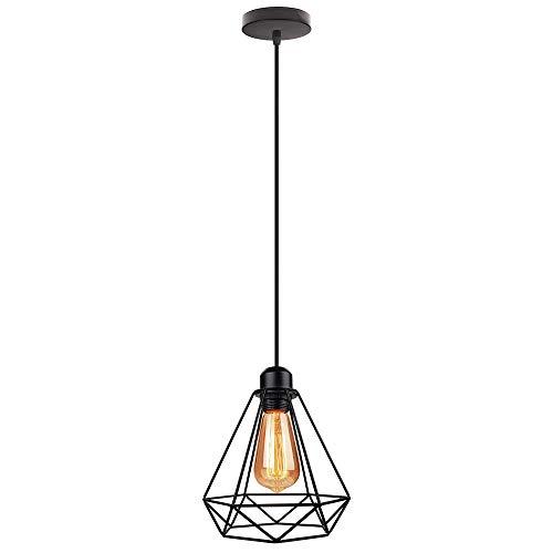 Minimalista Lámpara Colgante Retro Interior E27 Iluminación ...