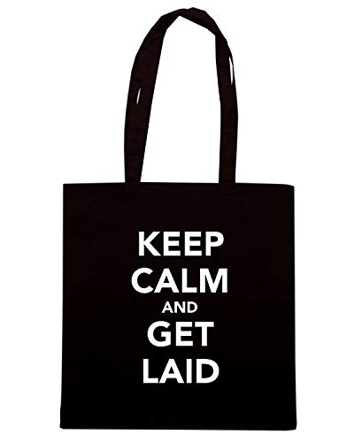 Shopper CALM AND LAID Nera Speed Shirt Borsa GET KEEP TKC3165 YxEBpqw