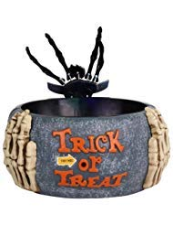 Animated Halloween Skeleton Hand Candy Bowl - Motion Activated