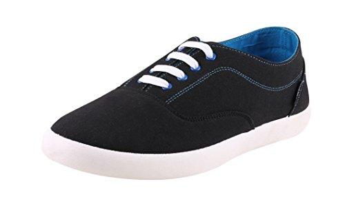 Globalite Men's Canvas sneaker ENIGMA BLACK/BLUE GSC1108