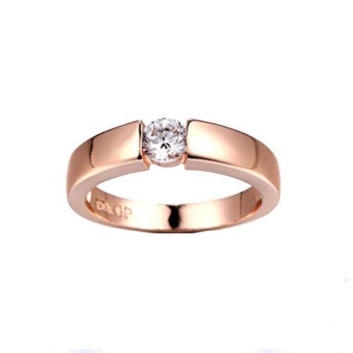 Aunimeifly Shining Ring, Exquisite Diamond Flower Goddess Ring Engagement Wedding Band Ring Jewelry Gift Rose Gold
