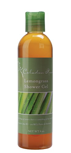Celadon Road Lemongrass Shower Gel - Organic Ingredients and Essential Oils - Sulfate and Paraben Free - Best All Natural Shower Gel - 8 oz - Made in - Versace Gaga