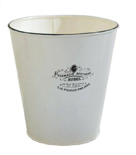 Beautiful ... America Retold Apothecary White Enamel Bathroom Waste Basket ...