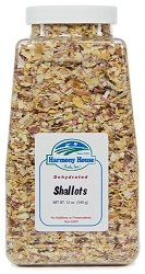 Harmony House Foods, Dried Shallots, Chopped, 12 Ounce Quart Size Jar