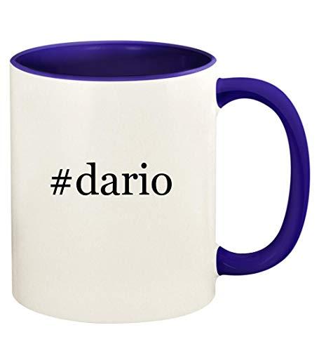 #dario - 11oz Hashtag Ceramic Colored Handle and Inside Coffee Mug Cup, Deep Purple -