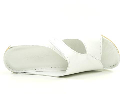 Conti 773402 Weiß Zuecos De Andrea Mujer Material Cuero Odqfdp