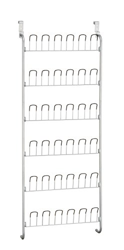 Neu Home Organize It All Over-The-Door 18 Pair Hanging Wire Shoe Rack