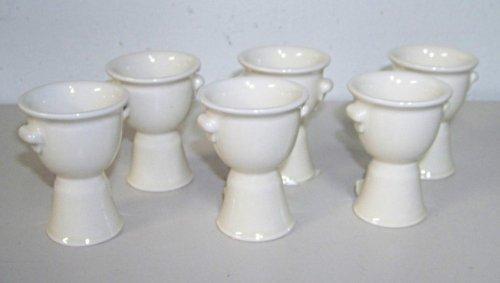 Creamware Collection - 6 Mary Carol Home Collection Creamware Egg Cups