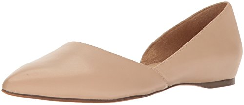Naturalizer Women's Samantha Pointed Toe Flat, Taupe, 8 W US