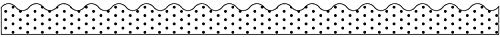 (Schoolgirl Style Industrial Chic Scalloped Borders, White with Black Dots (108340))
