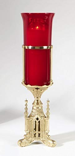 - San Pietro Altar Sanctuary Light Holder for Pillar Candles, 13 1/2 Inch