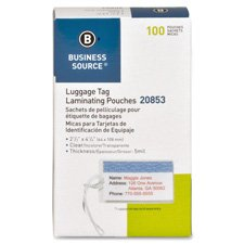business-source-luggage-tag-laminating-pouches-box-of-100-20853