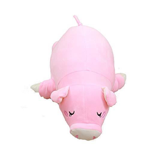 Toy Rosa cerdo peluche plumas algodón cerdo muñeca cojín ...