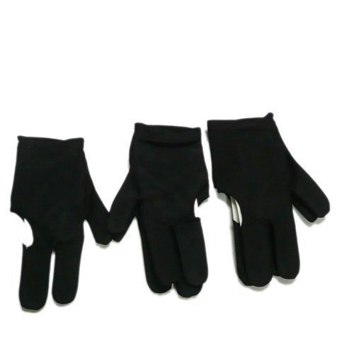Dcolor 5 Black Billiards Pool Snooker Cue Shooters 3 Fingers Gloves