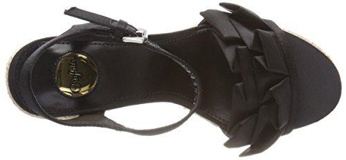 Black 01 Femme Cheville Bride Noir 317 Sandales Satin Buffalo 3109 T8wYzT