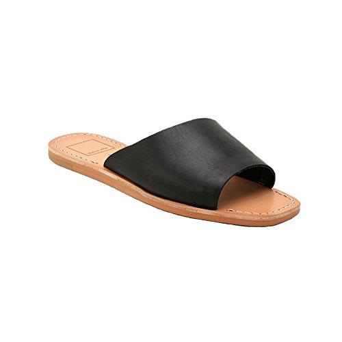 Dolce Vita Cato Leather Slipon Sandal In Black  8  Black