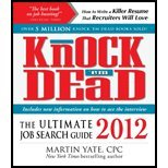 img - for Knock'em Dead 2012 (12) by CPC, Martin Yate [Paperback (2011)] book / textbook / text book