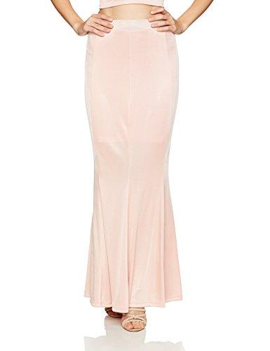 Velvet Rope Women's Mid Waist Maxi Length Semi Flare Skirt