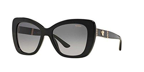 Versace Womens Sunglasses (VE4305) Black/Grey Acetate - Polarized - - Versace Polarized Womens Sunglasses